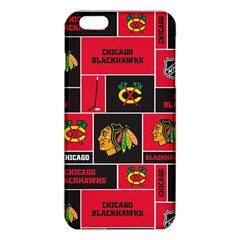 Chicago Blackhawks Nhl Block Fleece Fabric Iphone 6 Plus/6s Plus Tpu Case by Onesevenart