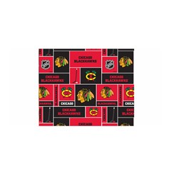 Chicago Blackhawks Nhl Block Fleece Fabric Satin Wrap by Onesevenart