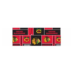 Chicago Blackhawks Nhl Block Fleece Fabric Satin Scarf (oblong) by Onesevenart