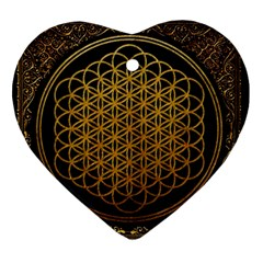 Bring Me The Horizon Cover Album Gold Ornament (heart)  by Onesevenart