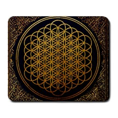 Bring Me The Horizon Cover Album Gold Large Mousepads by Onesevenart