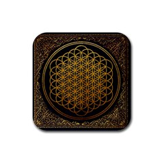 Bring Me The Horizon Cover Album Gold Rubber Coaster (square)  by Onesevenart