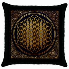 Bring Me The Horizon Cover Album Gold Throw Pillow Case (black) by Onesevenart