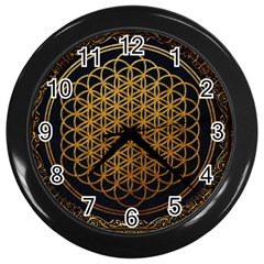 Bring Me The Horizon Cover Album Gold Wall Clocks (black) by Onesevenart