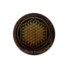 Bring Me The Horizon Cover Album Gold Rubber Round Coaster (4 Pack)  by Onesevenart