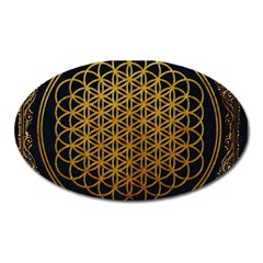 Bring Me The Horizon Cover Album Gold Oval Magnet by Onesevenart