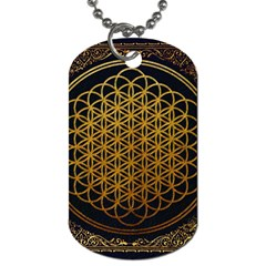 Bring Me The Horizon Cover Album Gold Dog Tag (one Side) by Onesevenart