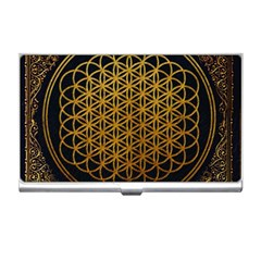 Bring Me The Horizon Cover Album Gold Business Card Holders by Onesevenart