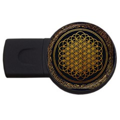 Bring Me The Horizon Cover Album Gold Usb Flash Drive Round (2 Gb)  by Onesevenart