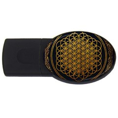 Bring Me The Horizon Cover Album Gold Usb Flash Drive Oval (2 Gb)  by Onesevenart