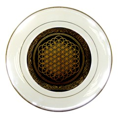 Bring Me The Horizon Cover Album Gold Porcelain Plates by Onesevenart