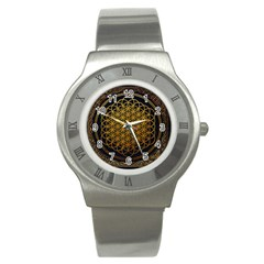 Bring Me The Horizon Cover Album Gold Stainless Steel Watch by Onesevenart