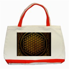 Bring Me The Horizon Cover Album Gold Classic Tote Bag (red) by Onesevenart