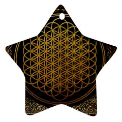 Bring Me The Horizon Cover Album Gold Star Ornament (two Sides)  by Onesevenart