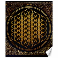 Bring Me The Horizon Cover Album Gold Canvas 8  X 10  by Onesevenart