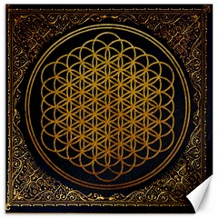 Bring Me The Horizon Cover Album Gold Canvas 16  X 16   by Onesevenart