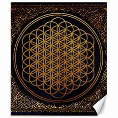 Bring Me The Horizon Cover Album Gold Canvas 20  X 24   by Onesevenart