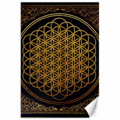 Bring Me The Horizon Cover Album Gold Canvas 20  X 30   by Onesevenart
