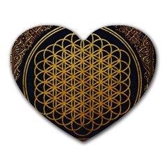 Bring Me The Horizon Cover Album Gold Heart Mousepads by Onesevenart