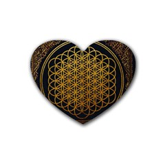 Bring Me The Horizon Cover Album Gold Heart Coaster (4 Pack)  by Onesevenart