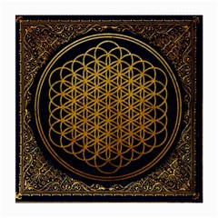 Bring Me The Horizon Cover Album Gold Medium Glasses Cloth by Onesevenart