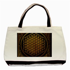 Bring Me The Horizon Cover Album Gold Basic Tote Bag (two Sides) by Onesevenart