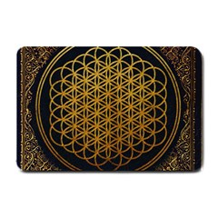 Bring Me The Horizon Cover Album Gold Small Doormat  by Onesevenart