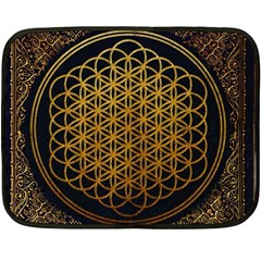 Bring Me The Horizon Cover Album Gold Fleece Blanket (mini) by Onesevenart