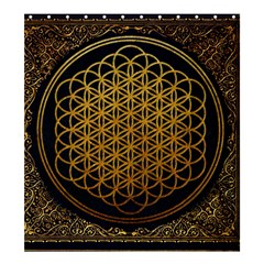 Bring Me The Horizon Cover Album Gold Shower Curtain 66  X 72  (large)  by Onesevenart