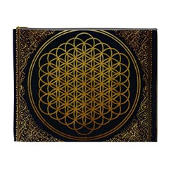 Bring Me The Horizon Cover Album Gold Cosmetic Bag (xl) by Onesevenart