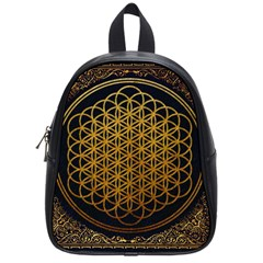 Bring Me The Horizon Cover Album Gold School Bags (small)  by Onesevenart