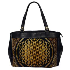 Bring Me The Horizon Cover Album Gold Office Handbags (2 Sides)  by Onesevenart