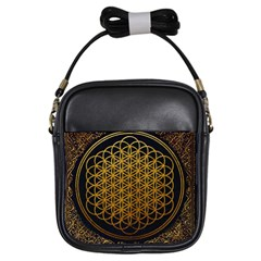 Bring Me The Horizon Cover Album Gold Girls Sling Bags by Onesevenart