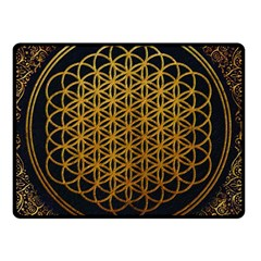 Bring Me The Horizon Cover Album Gold Fleece Blanket (small) by Onesevenart