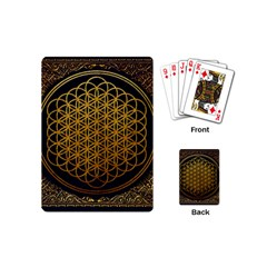 Bring Me The Horizon Cover Album Gold Playing Cards (mini)  by Onesevenart