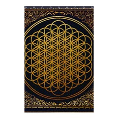 Bring Me The Horizon Cover Album Gold Shower Curtain 48  X 72  (small)  by Onesevenart
