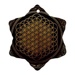 Bring Me The Horizon Cover Album Gold Ornament (snowflake)  by Onesevenart
