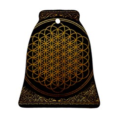 Bring Me The Horizon Cover Album Gold Bell Ornament (2 Sides) by Onesevenart