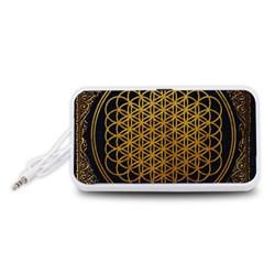 Bring Me The Horizon Cover Album Gold Portable Speaker (white)  by Onesevenart