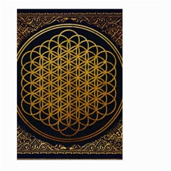 Bring Me The Horizon Cover Album Gold Large Garden Flag (two Sides) by Onesevenart