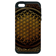 Bring Me The Horizon Cover Album Gold Apple Iphone 5 Hardshell Case (pc+silicone) by Onesevenart