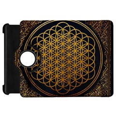 Bring Me The Horizon Cover Album Gold Kindle Fire Hd Flip 360 Case by Onesevenart