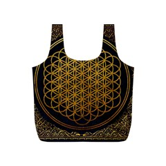 Bring Me The Horizon Cover Album Gold Full Print Recycle Bags (s)  by Onesevenart