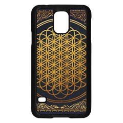Bring Me The Horizon Cover Album Gold Samsung Galaxy S5 Case (black) by Onesevenart