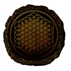 Bring Me The Horizon Cover Album Gold Large 18  Premium Flano Round Cushions by Onesevenart