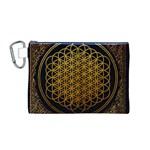 Bring Me The Horizon Cover Album Gold Canvas Cosmetic Bag (M)