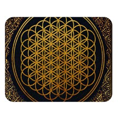 Bring Me The Horizon Cover Album Gold Double Sided Flano Blanket (large)  by Onesevenart