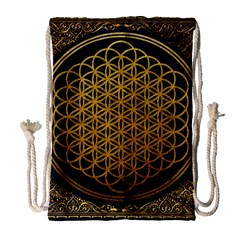 Bring Me The Horizon Cover Album Gold Drawstring Bag (large) by Onesevenart