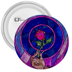 Enchanted Rose Stained Glass 3  Buttons by Onesevenart