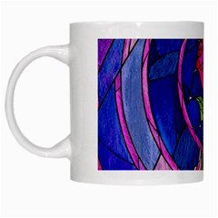 Enchanted Rose Stained Glass White Mugs by Onesevenart